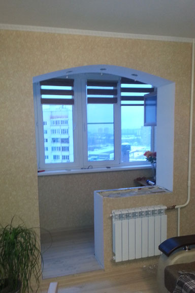 Балконный проем фото..
