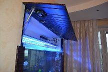 Отделка встроенного аквариума